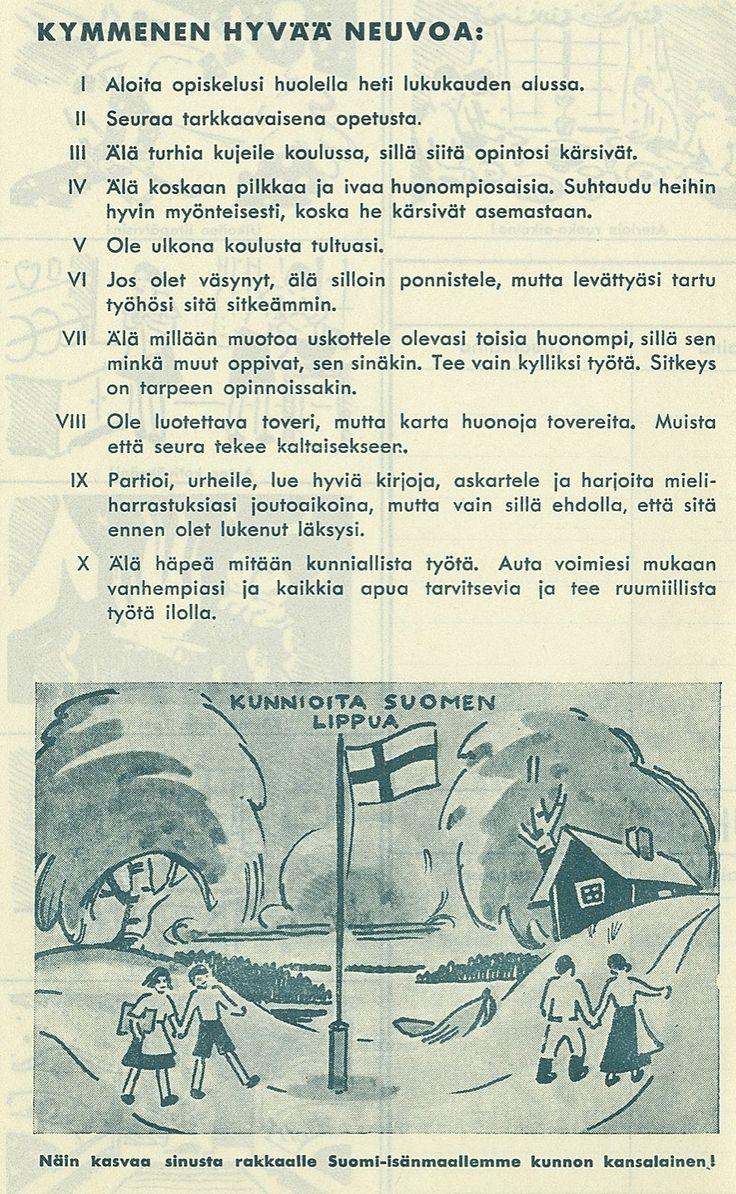 Ohjeita reippaille koululaisille :)