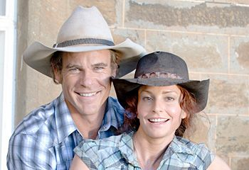 Alex and Stevie. McLeods Daughters, hats, cute couple, great tv, show, photo