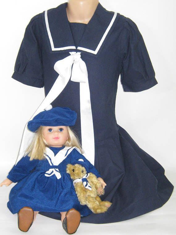 ** L I T T L E ** L A U R A A S H L E Y  I dont like ephemeral things, I like things that last forever  >>>>>CHILDRENS CORNER<<<<  ************************************************************************** CLASSIC EDWARDIAN STYLE SAILOR DRESS: 5-6 YEARS VINTAGE LAURA ASHLEY MOTHER