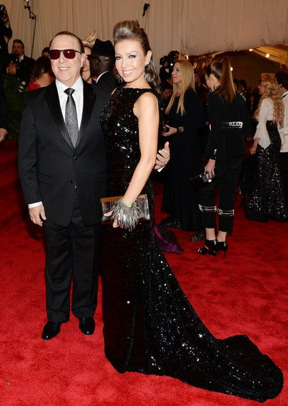 """Music executive Tommy Mottola (L) and entertainer Thalia attend the Costume Institute Gala for the """"PUNK: Chaos to Couture"""" exhibition at the Metropolitan Museum of Art on May 6, 2013 in New York City."""