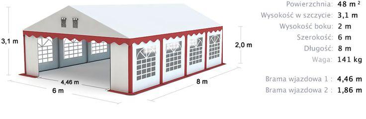 Namiot Handlowy 6x8 Commercial Tent 6x8