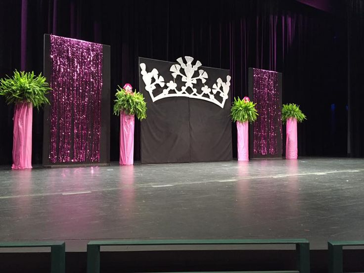 Staging For The Think Pink Benefit Pageant Miss
