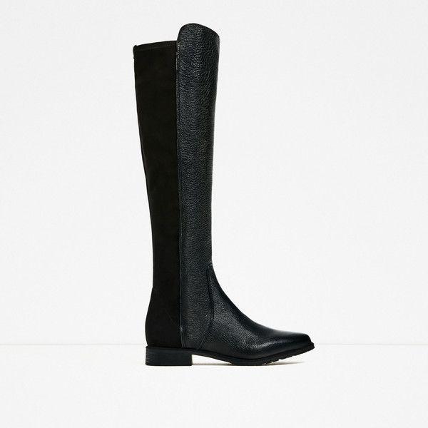 ΨΗΛΗ ΜΠΟΤΑ - Προβολή όλων-ΠΑΠΟΥΤΣΙΑ-ΓΥΝΑΙΚΕΙΑ | ZARA ΕΛΛΑΔΑ (1,125 EGP) ❤ liked on Polyvore featuring zara, boots and shoes