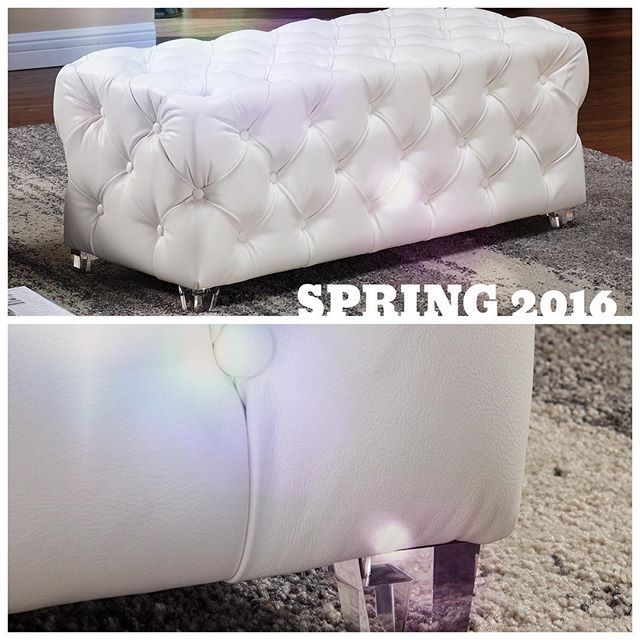 The NEW Patricia ottoman is the essence of spring: Light & airy with a feminine touch  inspireathome.com
