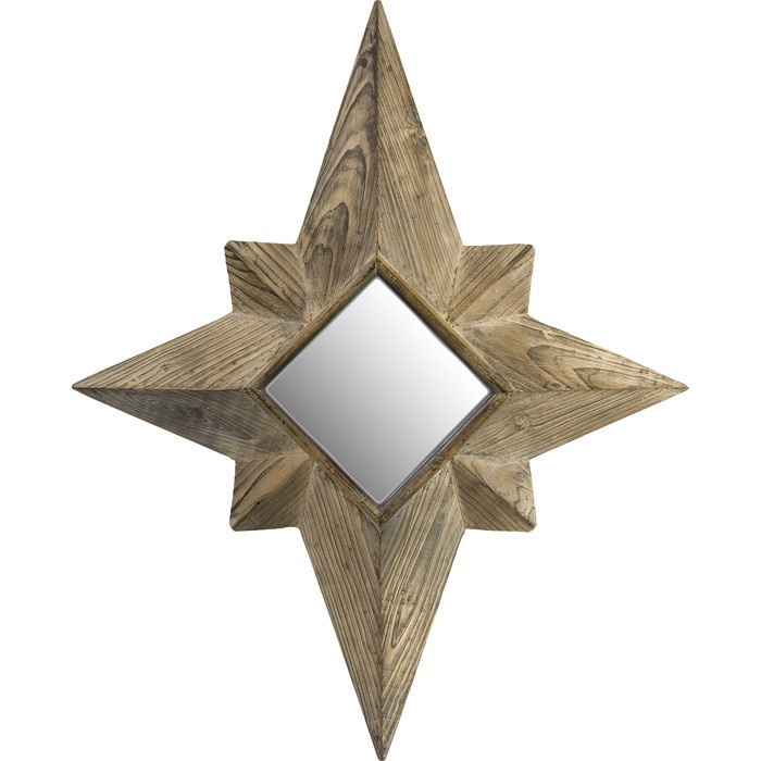 Mirrored Star Wall Decor: North Star Wall Mirror