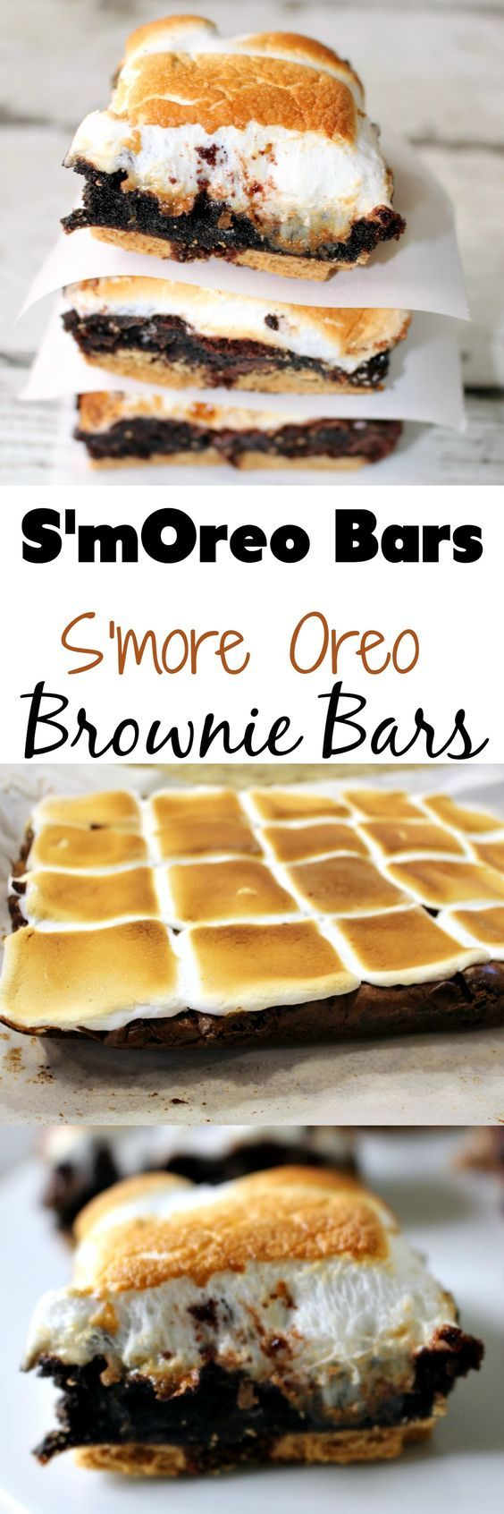 These S'more Oreo Brownie Bars, aka the S'mOreo, is the perfect summertime dessert (