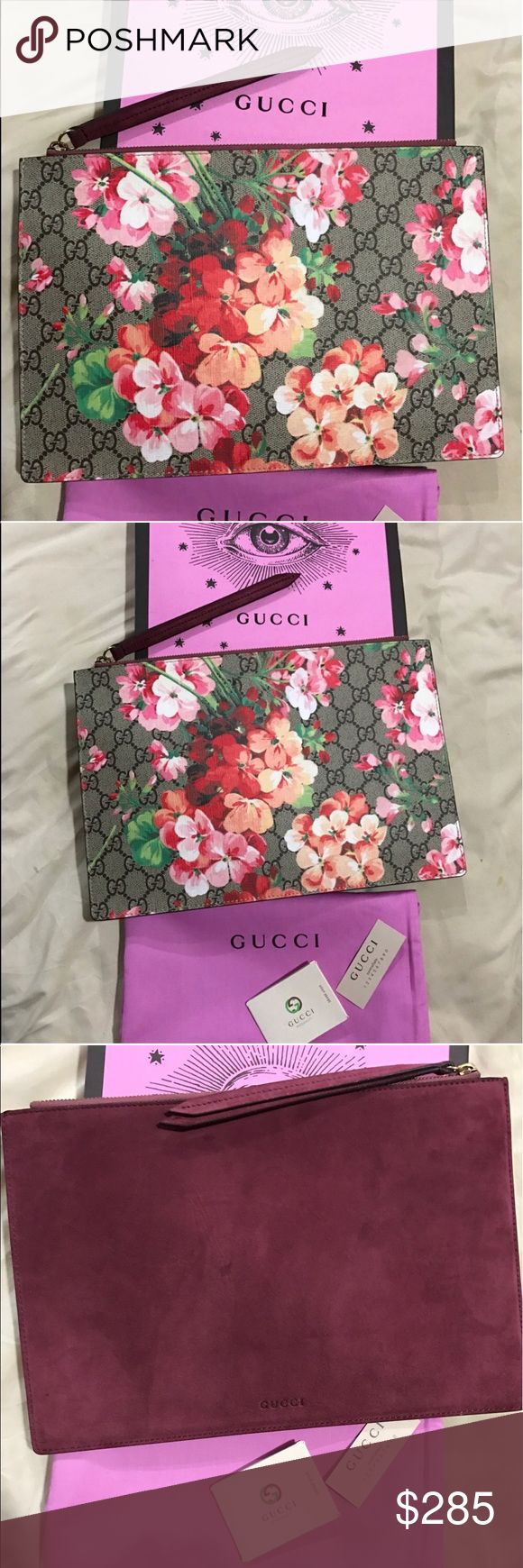 GUCCI BLOOMS FLORAL CLUTCH BAG 🌺🌸🌷 Brand new with box and dustbag. Amazing quality. Large size clutch bag.price r e f l e c t s!! No trades 🌸🌺 Gucci Bags