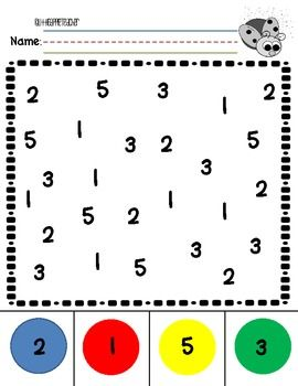Number Recognition 0-5 Practice - use dot stampers? or stickers?