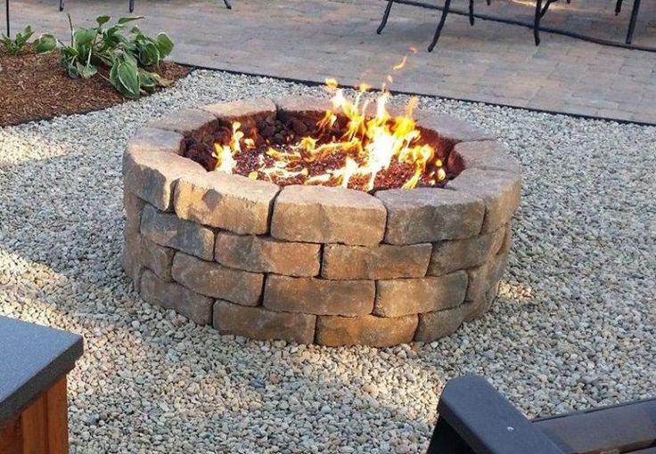 15 Outstanding Cinder Block Fire Pit Design Ideas For Outdoor | Fire pit essentials, Cinder ...