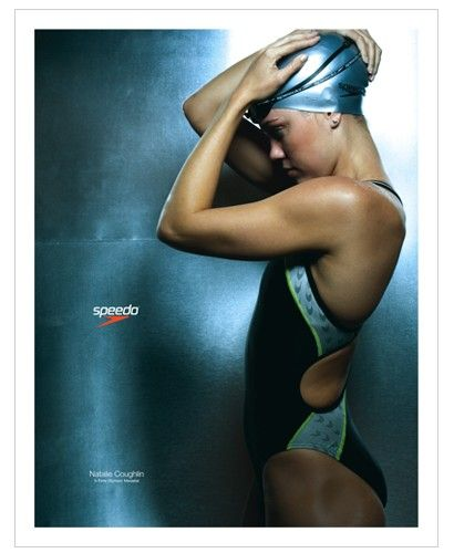 Natalie Coughlin. This poster was on the wall at the pool where I took swimming lessons for 4 years. I wanted to be just like her.