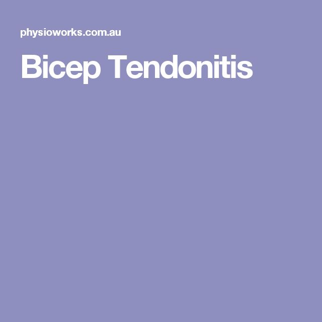 Bicep Tendonitis