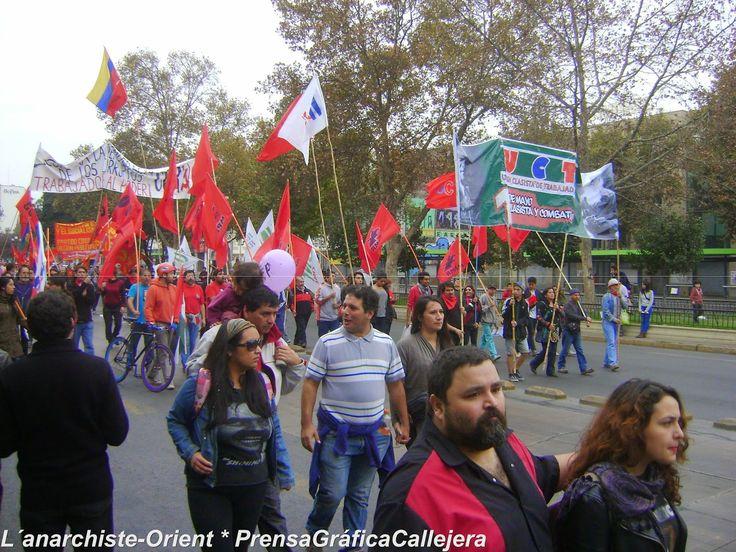 .: L'anarchiste-Orient :.: Día de lxs Trabajadorxs en Chile. Dos actos: la misma cantidad de asistentes en cada uno