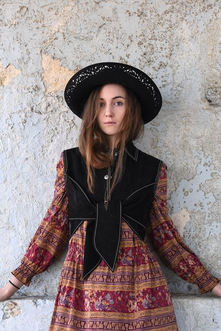 Frolicking with Clementine: Untamed suede gilet waist coat - boho gypsy girl
