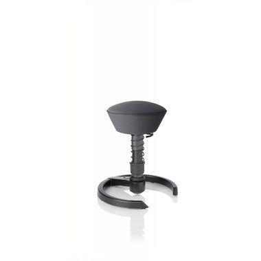 Tabouret ergonomique swopper Air structure Anthracite et assise couleur Argent. Pleins d'autres options possibles sur http://www.swoppershop.com
