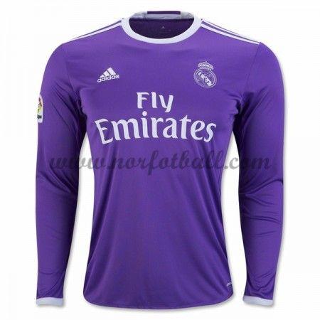 Billige Fotballdrakter Real Madrid 2016-17 Borte Draktsett Langermet