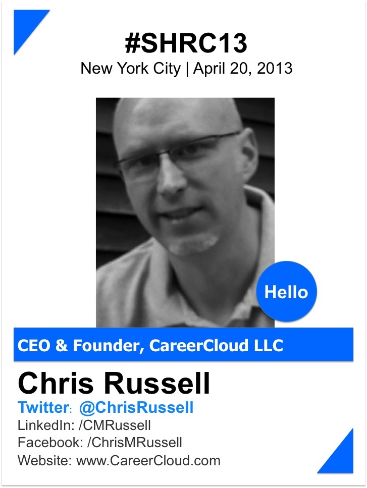 """CHRIS RUSSELL    As founder of the regional job board network, AllCountyJobs.com, Chris has been active in the job search industry since 1999.  He sold that business in May 2012 and turned his attention toward social recruiting.    His peers in the industry call him the """"mad scientist of online recruiting"""".  Helping job seekers connect with employers has always been a passion of his.  And he just can't stop building cool stuff!    www.careercloud.com"""