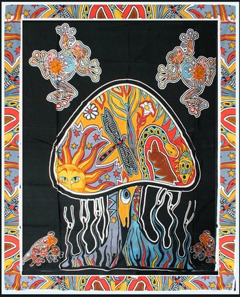 Psychedelic Mushroom - Tapestry