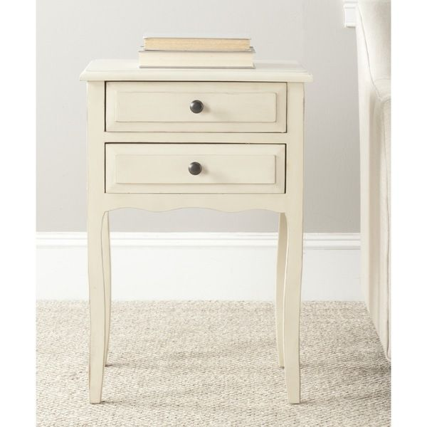 Safavieh Lori Antique White Accent Table - Overstock™ Shopping - Great Deals on Safavieh Coffee, Sofa & End Tables