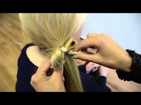 Klein strik van het haar maken - YouTube