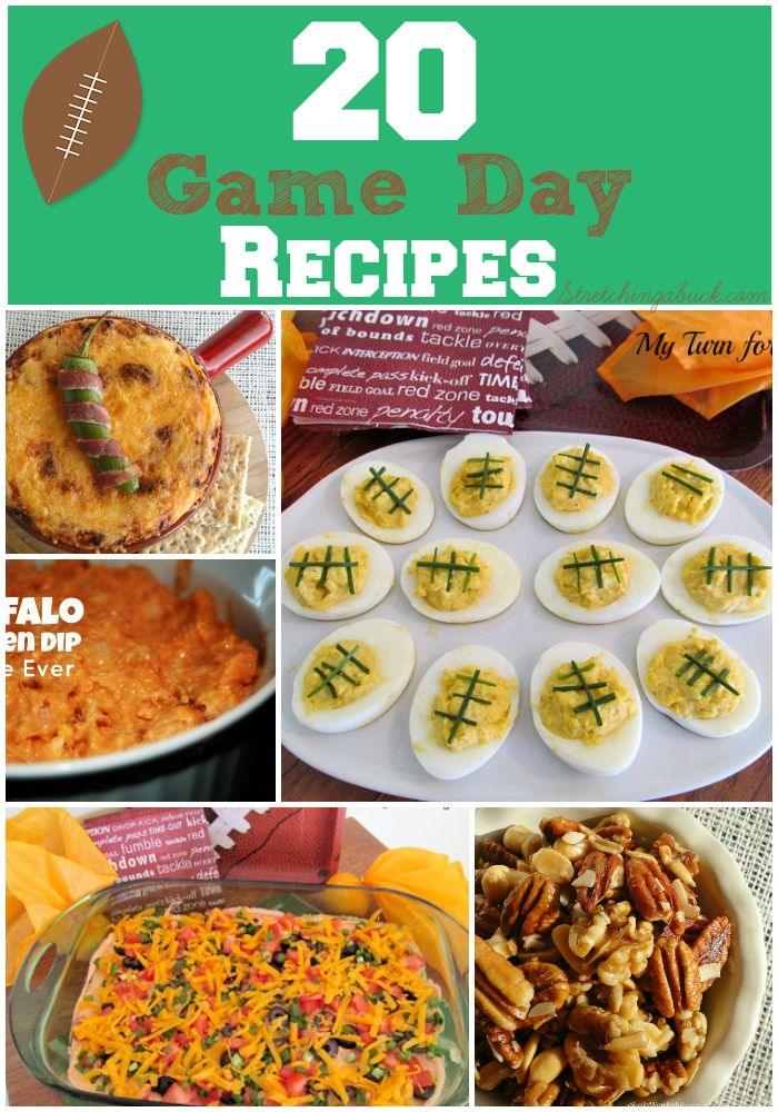 20 Game Day Recipes   Pizza Puffs, Buffalo Ranch Chicken Dip, Honey Roasted Nuts, Cheesy Super Bowl Dip + More Football Game Day Food Party Food Appetizers