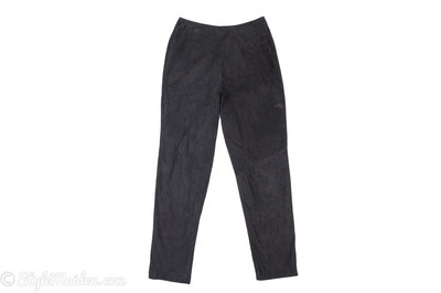 DANIER Black Suede Pants Size 8 at http://stylemaiden.com