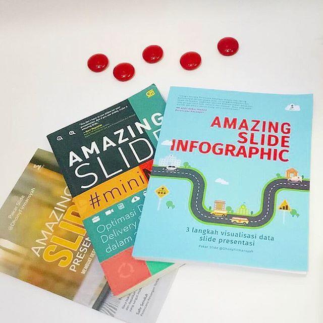 Satu tahun satu karya, alhamdulillah Allah mengizinkannya. Seri #AmazingSlide: #AmazingSlideMiniMAX (2015), #AmazingSlidePresentation (2016), dan #AmazingSlideInfographic (2017). Semua ttg #SlidePresentasi, bidang yg sy dalami di Indonesia, Singapura dan Jepang. Anda bisa memesannya ke Ayu 08123 271 6030.  #Book #Buku #BukuBestSeller #PakarSlide #KreasiPresentasi #Workshop #BookPhoto #Infographic #infografis #BukuInfografis #Powerpoint #BukuPresentasi #MyAmazingLife