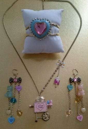Betsey-Johnson-Rare-Candyland-Cotton-Candy-Gummy-Bear-Jewelry