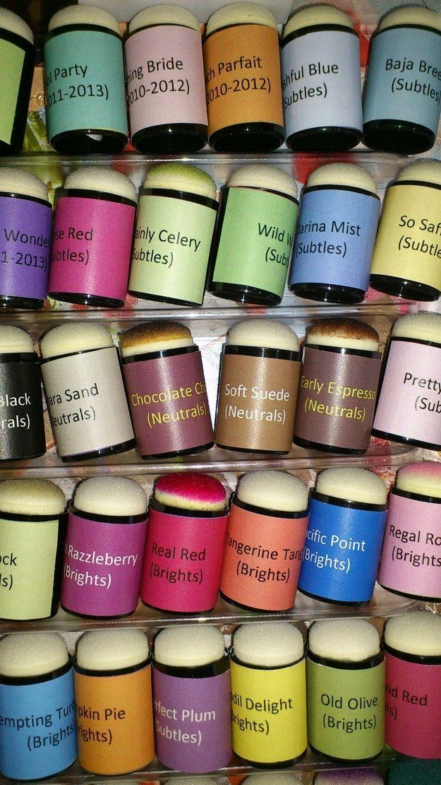 Print out labels to efficiently keep track of daubers. | Community Post: 45 Organization Hacks To Transform Your Craft Room