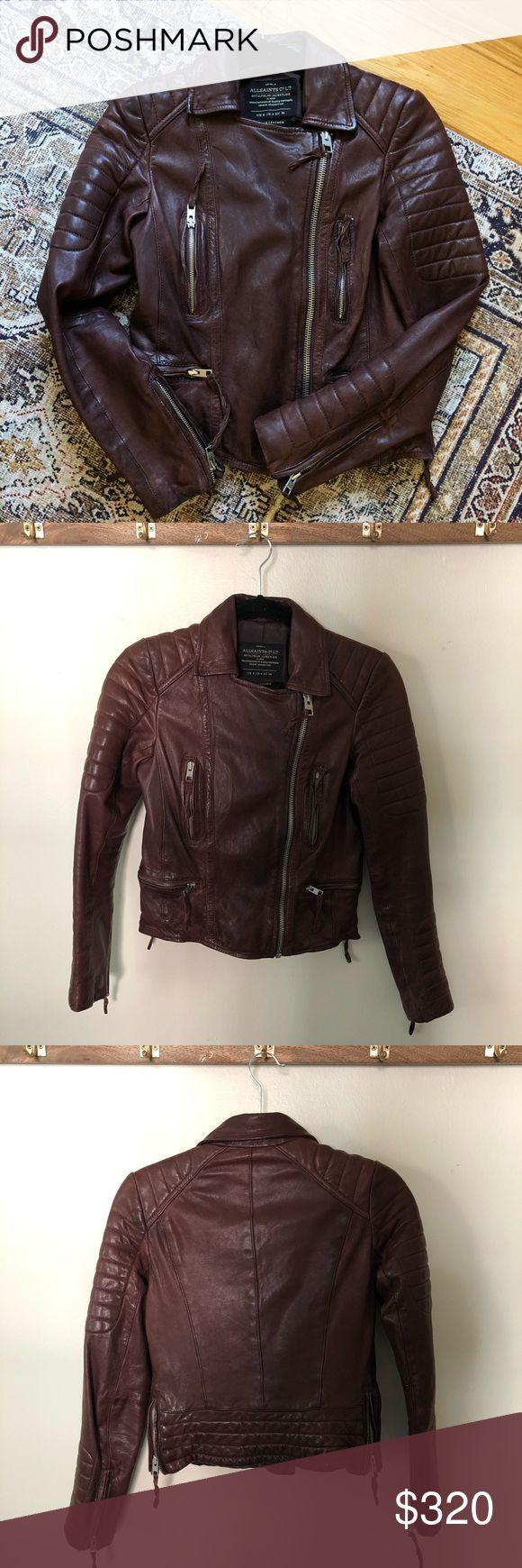 Allsaints Pitch Leather Jacket Oxblood 4 Leather jacket