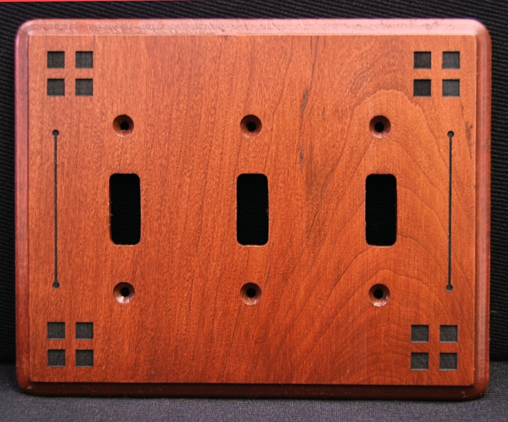 Craftsman Style 4 Square Switchplate Cover by DachshundDesignHouse, $17.95