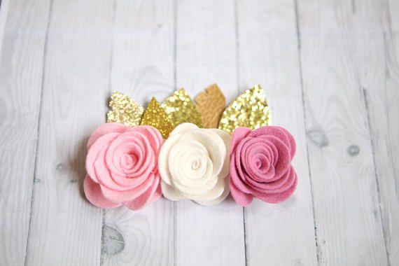 Salvaje un cumpleaños corona corona de flores de color rosa