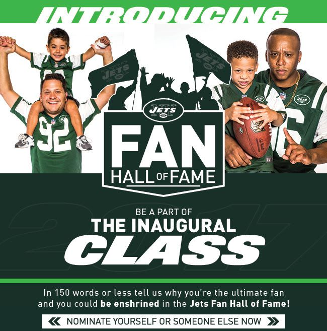 NY JETS FAN HALL OF FAME