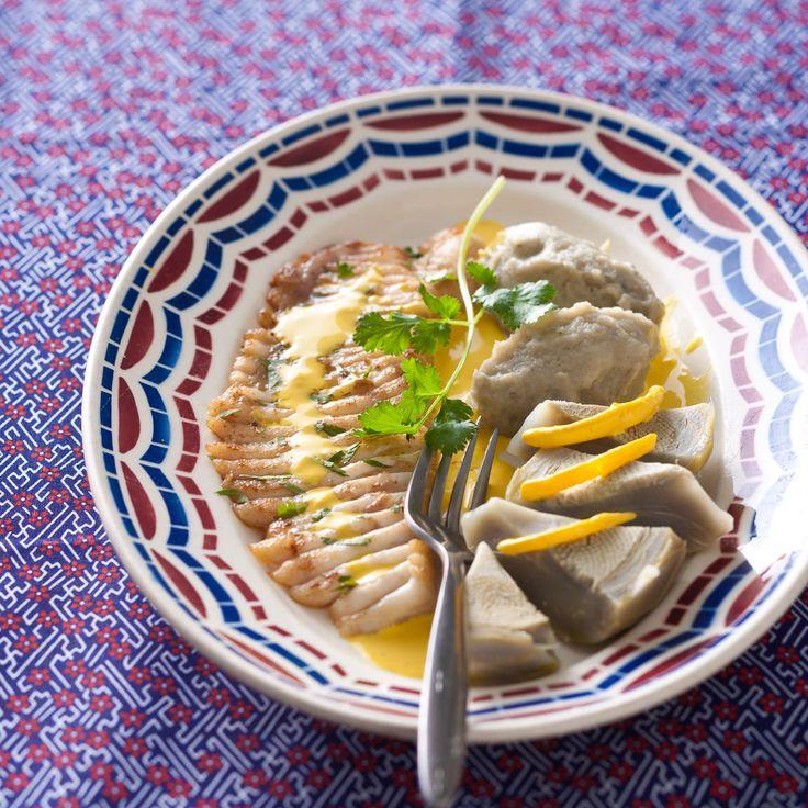 Découvrez la recette Aile de raie à la crème d'artichaut sur cuisineactuelle.fr.