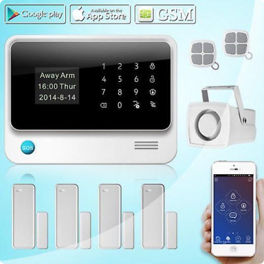 Golden Security G90b Gsm Wifi Sms Wireless Home Alarm System,two-way Door/window Sensor