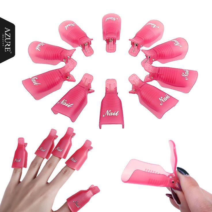 Plastic Nail Art Soak Off Cap Clip UV Gel Polish Remover Wrap Tool Nail Off Clip for Beauty Women Nail Care Tools