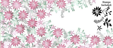 Festive Bouquet - Majestix Peg Stamp Set