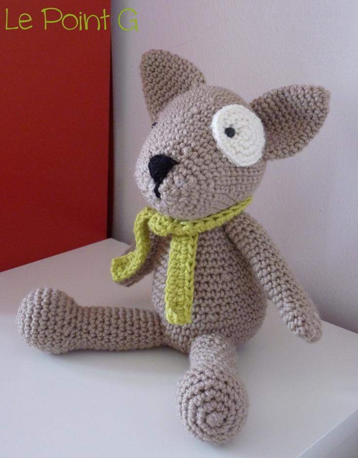 Peluche Chien  (doudou crochet)