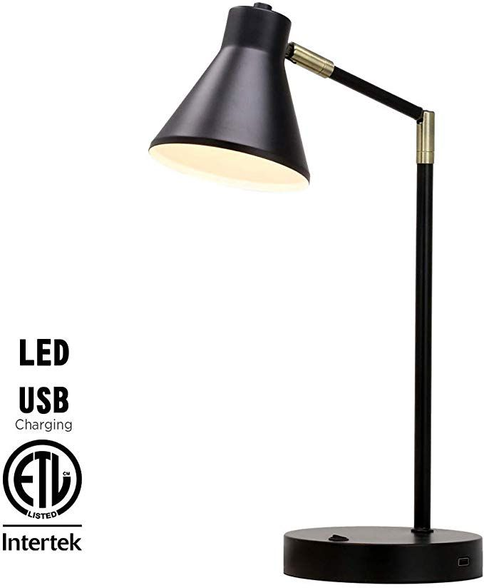 O Bright Led Desk Lamp With Usb Charging Port 100 Metal Lamp 270 Flexible Swivel Arms Soft White Led Reading Light 3 Lamp Desk Lamp Bedside Reading Lamps