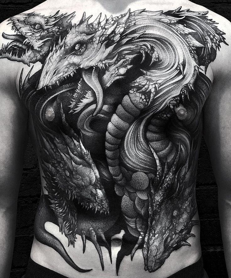 Blackwork Hydra Tattoo by wpkorvis