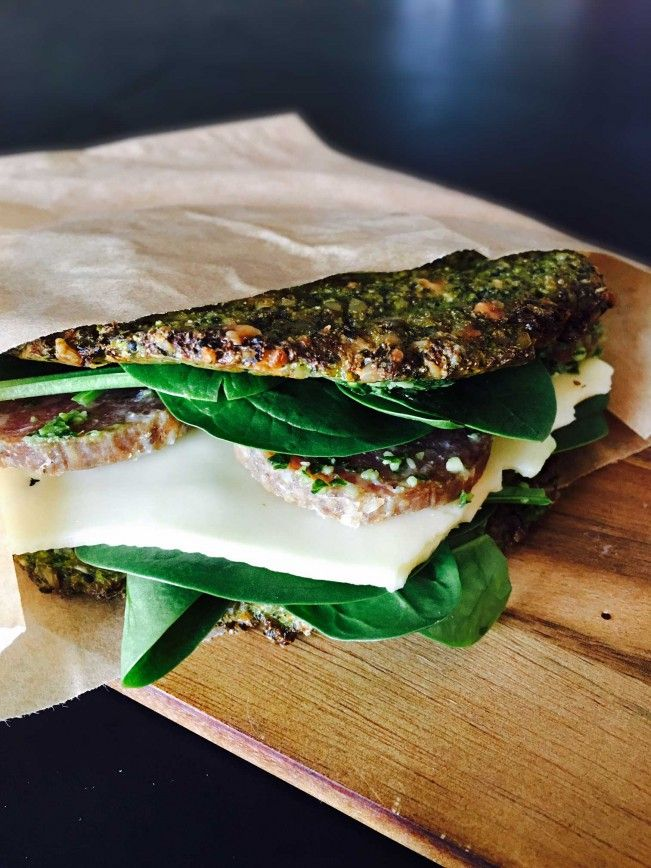 Low carb lunch sandwich - bread made of broccoli and kale! try it! --> MyCopenhagenKitchen.com
