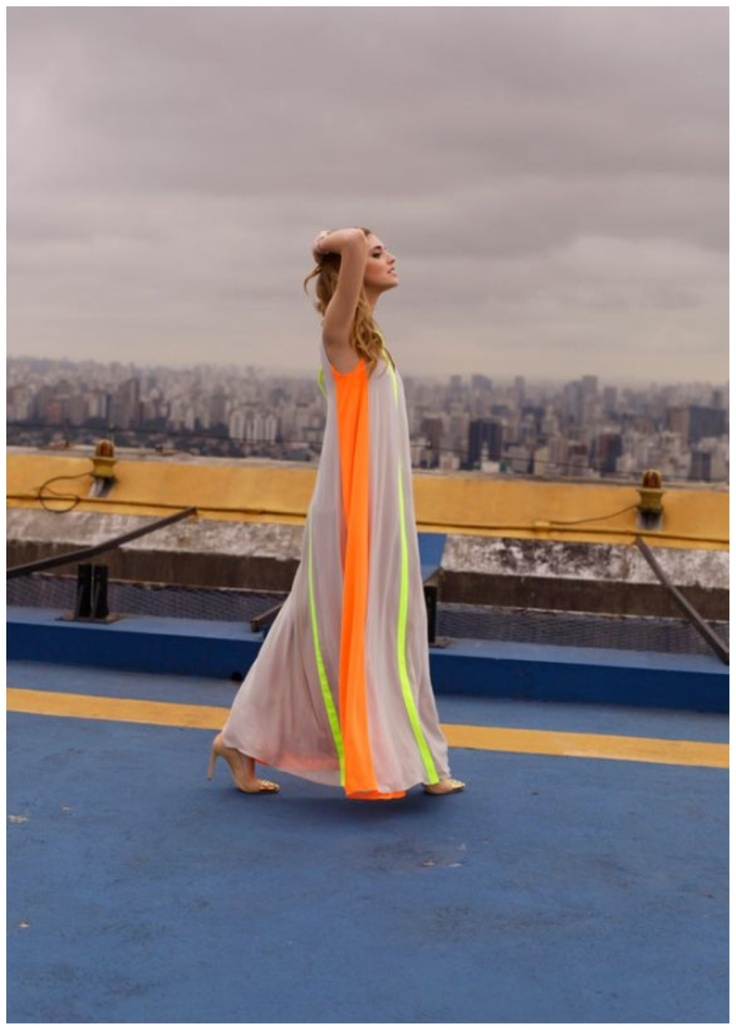 Maxi dress and Neon