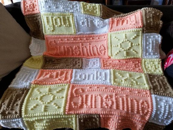 Free Crochet Pattern For You Are My Sunshine Blanket : You Are My Sunshine Crochet Blanket Pattern 2016 Car ...