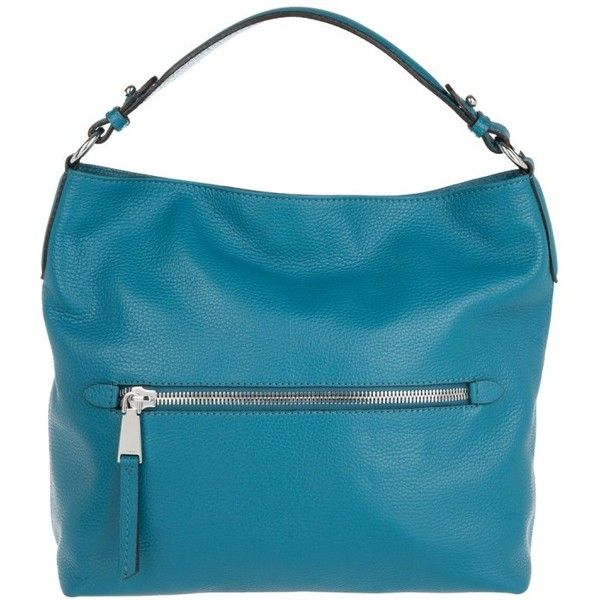 Abro Adria Hobo Bag Front Zipper Jeans in blue, Shoulder Bags (£170) ❤ liked on Polyvore featuring bags, handbags, shoulder bags, blue, zipper tote, leather tote, leather zip tote, leather shoulder handbags and leather tote handbags