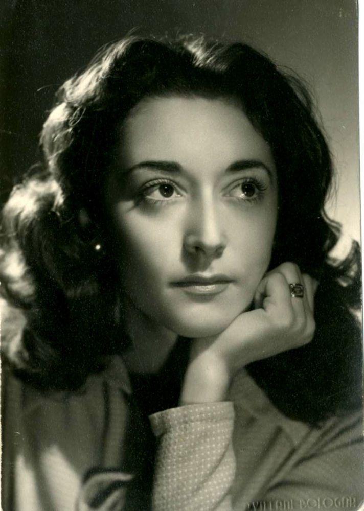 BELL  ANNA -FOTO RITRATTO D EPOCA (OLD PHOTO)-STUDIO VILLANI-BOLOGNA 1949 -DONNA