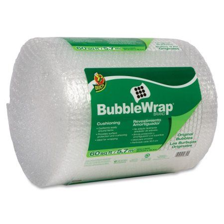 Duck Protective Packaging Bubble Wrap, Clear