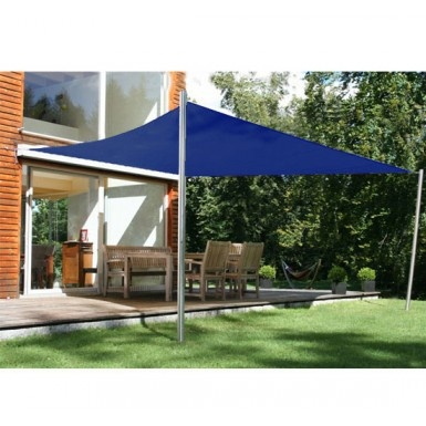 buy rectangle sun sail shade garden shade awning with free ropes 4m x 3m navy blue homcom. Black Bedroom Furniture Sets. Home Design Ideas