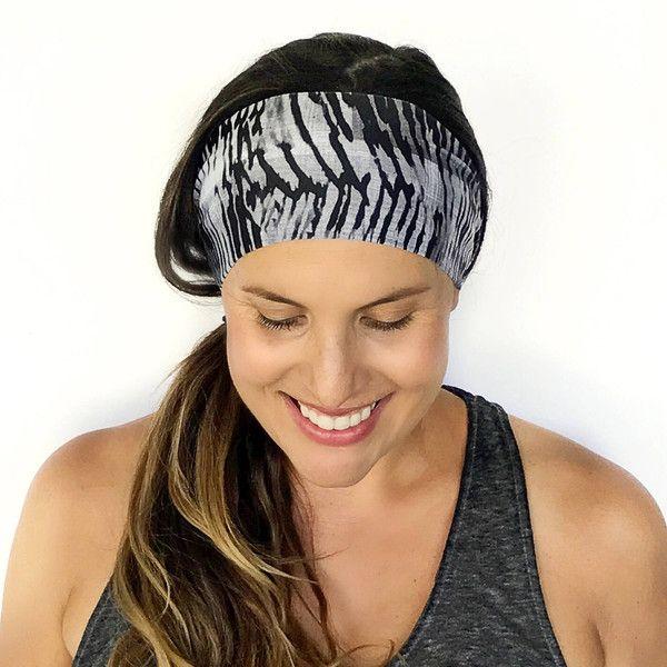 Yoga Headband Workout Headband Fitness Headband Running Headband the... (450 INR) ❤ liked on Polyvore featuring accessories, hair accessories, grey, headbands & turbans, yoga headbands, head wrap headbands, boho chic headbands, stretchy headbands and boho headbands