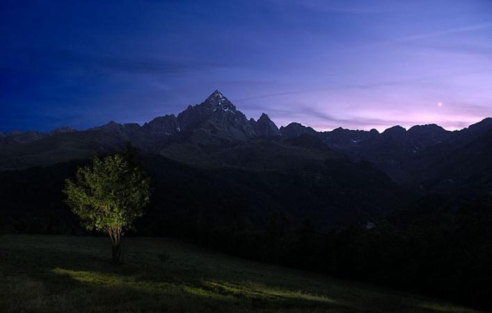 Monviso seen from Saluzzo