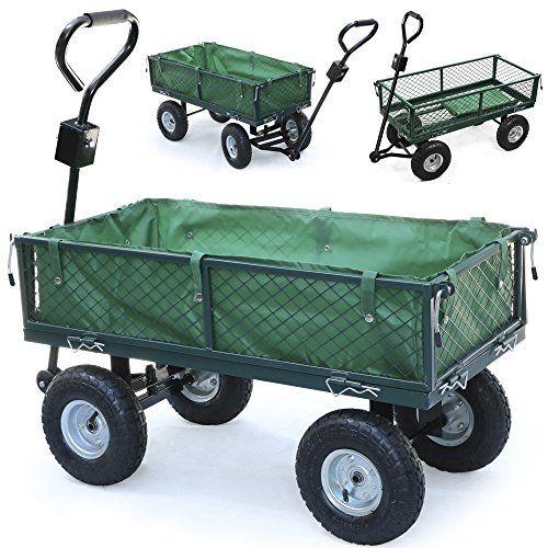 Heavy Duty 200kg Large Metal Garden Cart Truck Trolley 4 Wheel Trailer Pneumatic Tire tinkertonk http://www.amazon.co.uk/dp/B013WG0W1K/ref=cm_sw_r_pi_dp_yiIbxb1MXF6HE