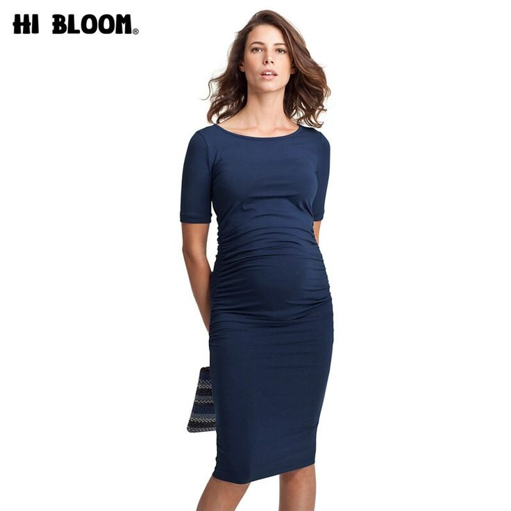 Promotion Maternity Dresses O-Neck Pregnancy Clothing Tencel Clothes for Pregnan… – Dresses